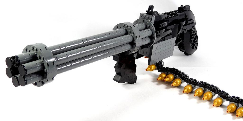 LEGO Gun of the Week - Wolfenstein 3D Gatling Gun by Julius
