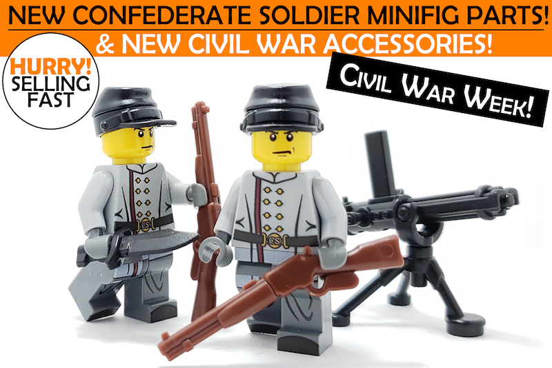 WW 100 Pcs Minifigures lego MOC the North Soldiers American Civil War /& Weapons