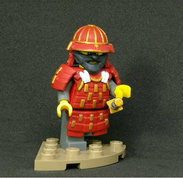 Custom LEGO Minifigure of the Week - Satsuma Bushido by kaidan_plus