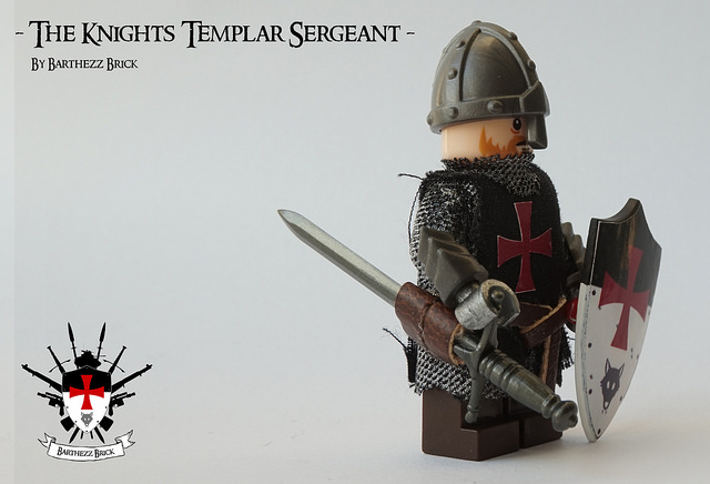 Custom LEGO Minifigure of the Week - The Knights Templar Sergeant by