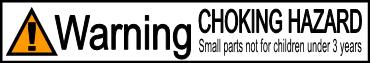 WARNING - Choking Hazard, Small Pieces. Not for children under 3.