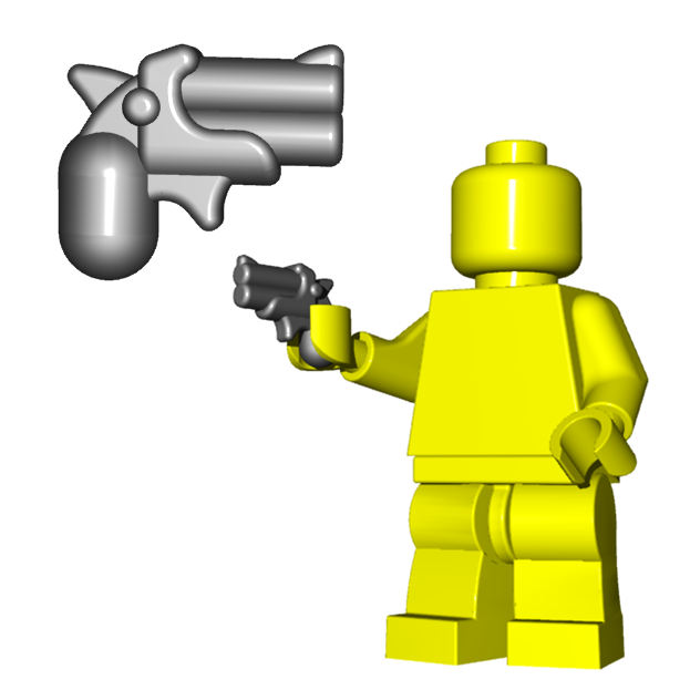 Custom LEGO Gun Highlight