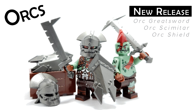 new custom lego orc accessories